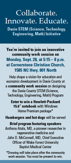 Davie County STEM Meeting Invitation