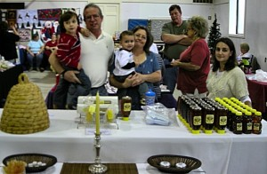 Greg Fariss of Peaceful Valley Honey at the Farmington Fall Expo