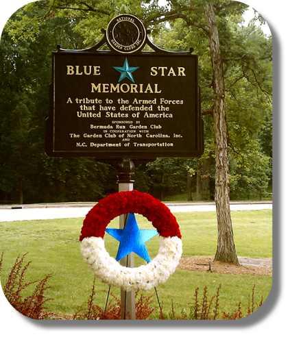 Davie County NC Blue Star Memorial Marker
