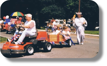 lawn mower parade