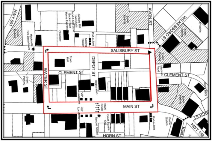 Mocksville Criterium Course Map