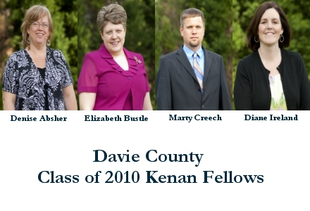 Davie County Class of 2012 Kenan Fellows ~ Denise Absher, Elizabeth Bustle, Marty Creech & Dinae Ireland