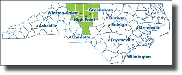 Piedmont Triad Map Davie County Blog