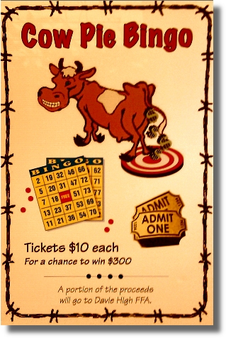 Don T Miss It Cow Pie Bingo Amp Silent Auction At The