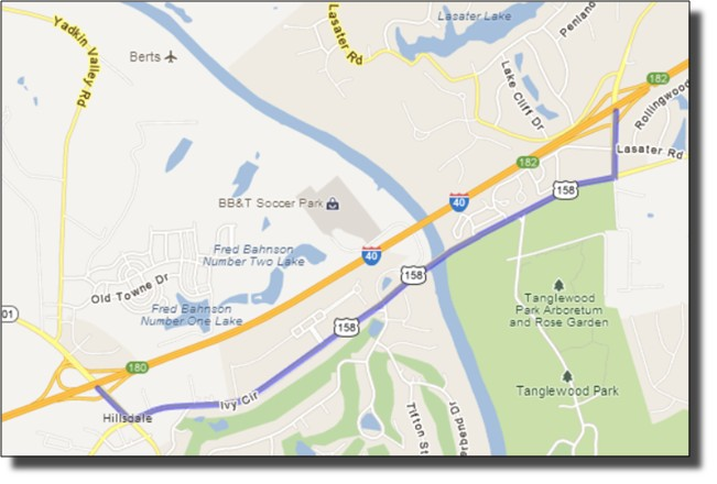 I-40 Detour-Map-Davie-County