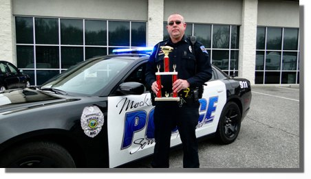 Mocksville Police Car Blue Light Special Award