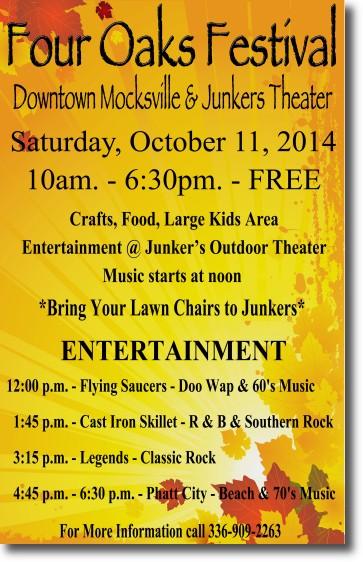 Mocksville Four Oaks Festival Poster