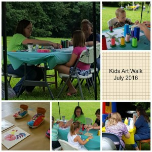kids art walk 2016