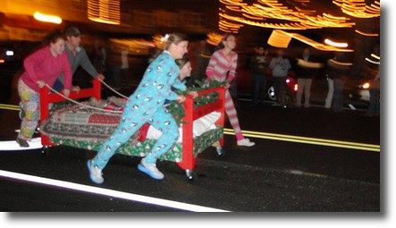 register now twas the night before bed race and the hometown christmas parade november 17 18th - Twas The Night Before Christmas Youtube