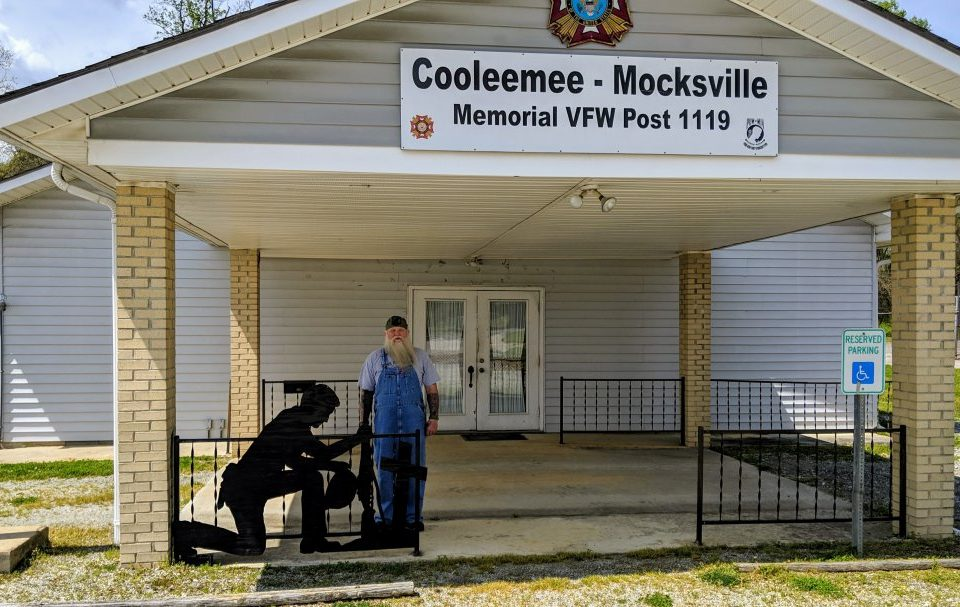 Cooleemee Mocksville Memorial VFW Post 1119 with Commander Wayne Seamon.