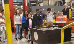 Davie Students visit Ingersoll Rand in Mocksville during Manufacturing Day 2019