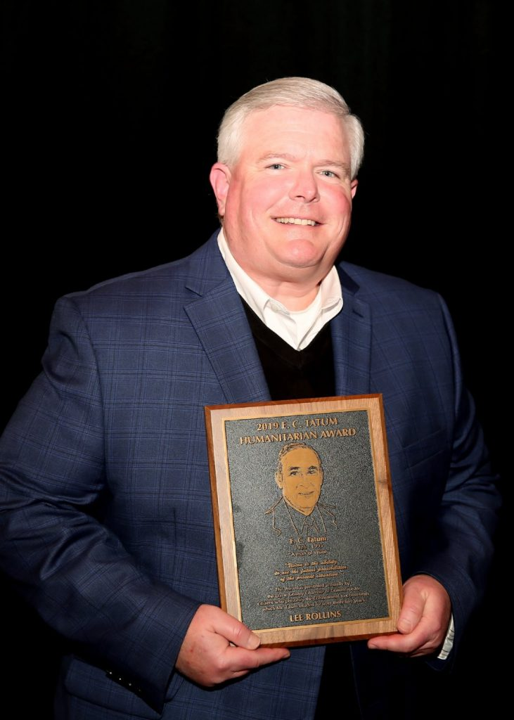 Lee Rollins — Recipient of the 2019 E.C. Tatum Humanitarian Award