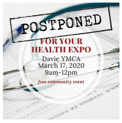 FOr Your Health Expo at the Davie Family YMCA postponed until June
