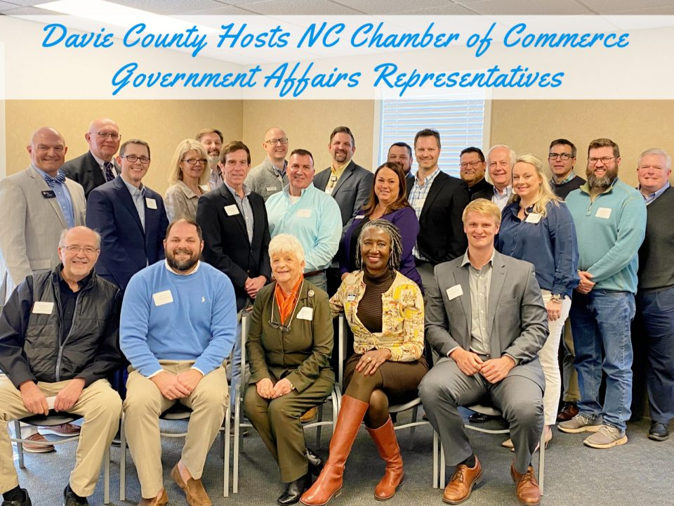 NC Chamber luncheon - business leaders and Government Representatives discuss Economic Development in Davie County