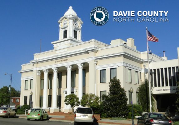 Davie County Courthouse in Historic downtown Mocksville