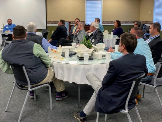 Business leaders and elected officials discuss issues affecting Davie County