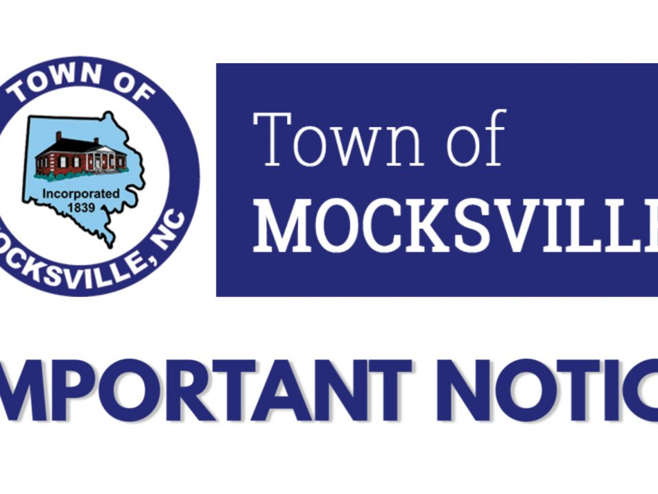 Important notice about coronavirus from Town of Mocksville