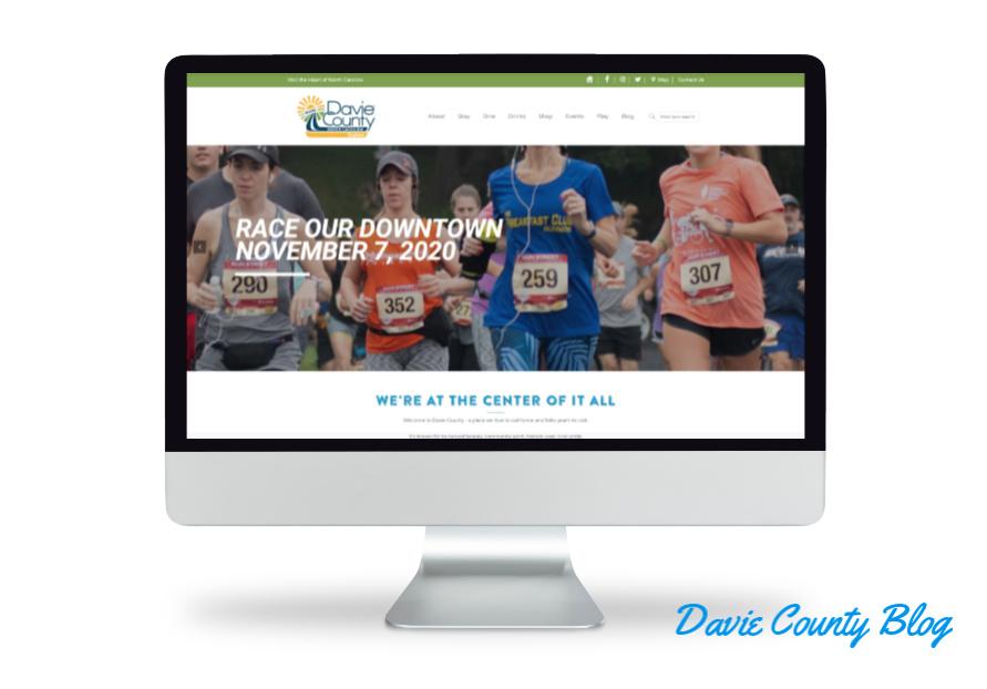 Davie County Tourism initiative through The Discover Davie Website