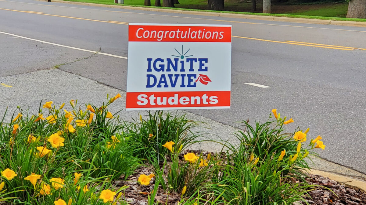 Ignite Davie Sign Welcomes Students to the Davie Campus of the Davidson Community College