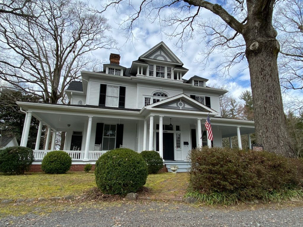 Philip Hanes House in historic downtown Mocksville is part of the Mocksville Historic district walking tour.