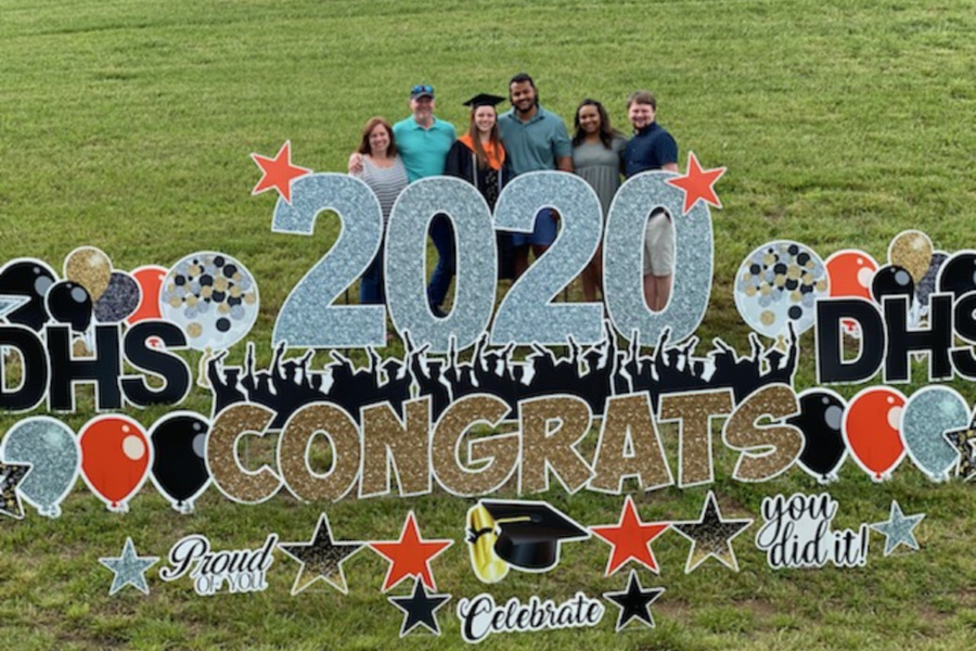 Cassidy Kluttz and her family celebrate her 2020 graduation from Davie High