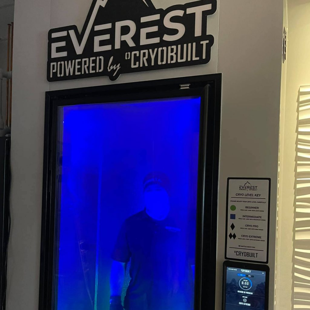 The Pro team gets a peek inside the EVEREST Cryotherapy Chamber's refrigeration system