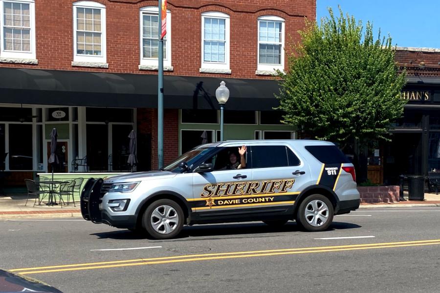 Lt. Mark Crater patrols Main Street in Mocksville
